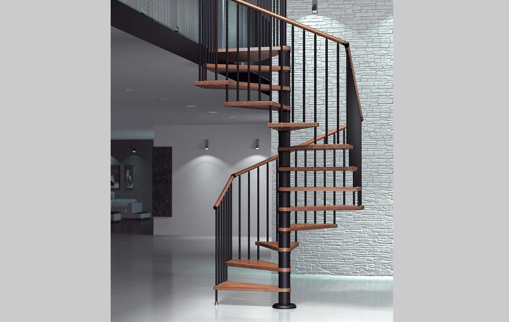 escalier helicoidal bois metal excellent escalier en. Black Bedroom Furniture Sets. Home Design Ideas