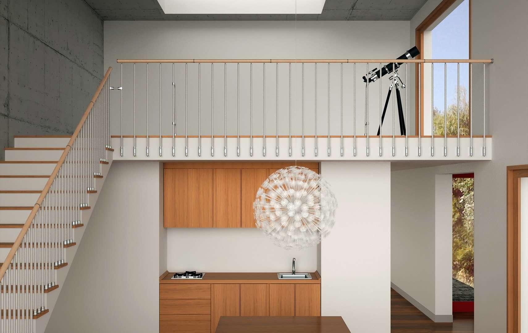 Rod 200 rg ringhiere per scale interne le puoi trovare in legno e in vetro - Ringhiera scale interne ...