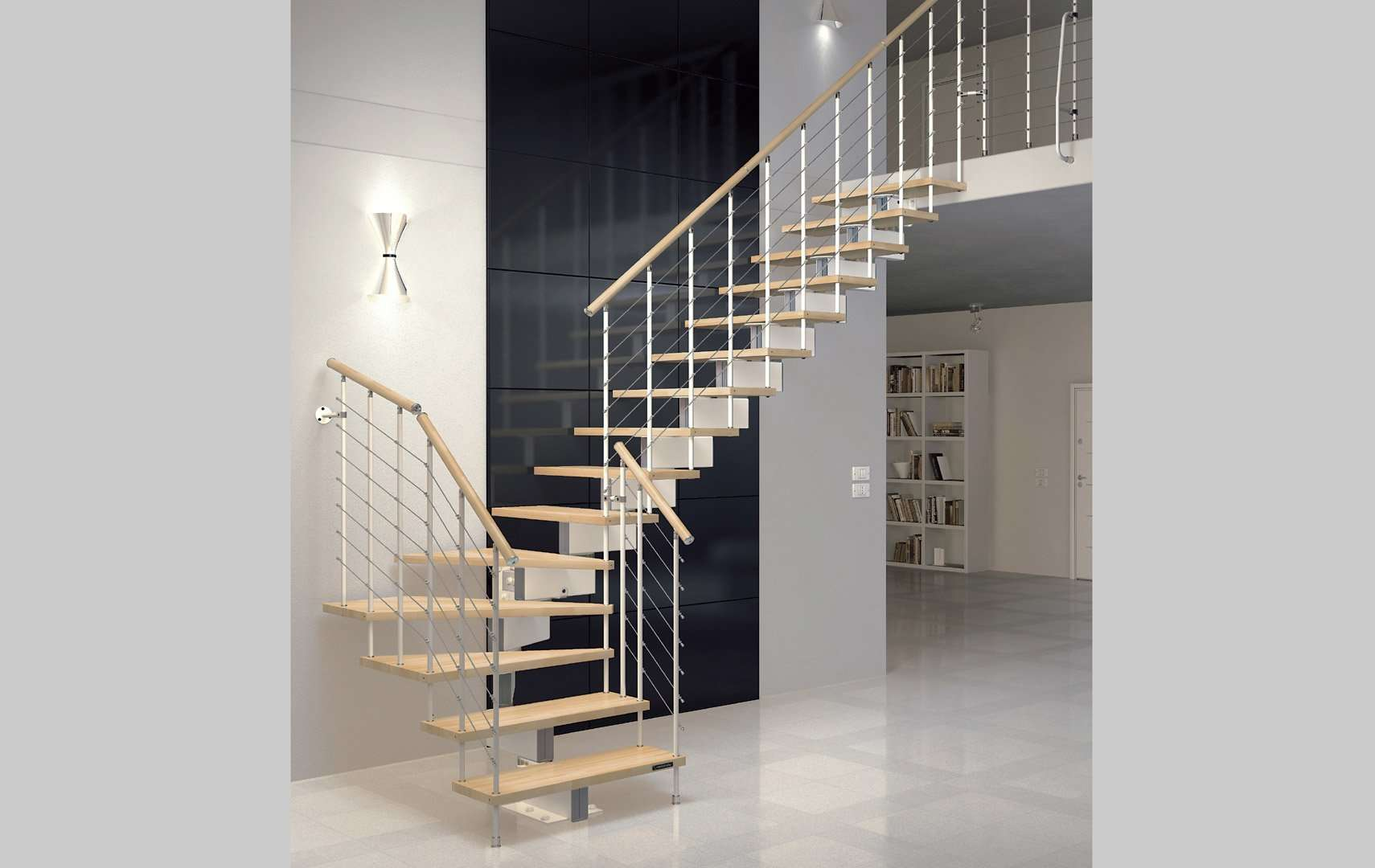 rampe escalier design stunning escalier rambarde rampe et garde corps adaptac sur escalier bois. Black Bedroom Furniture Sets. Home Design Ideas