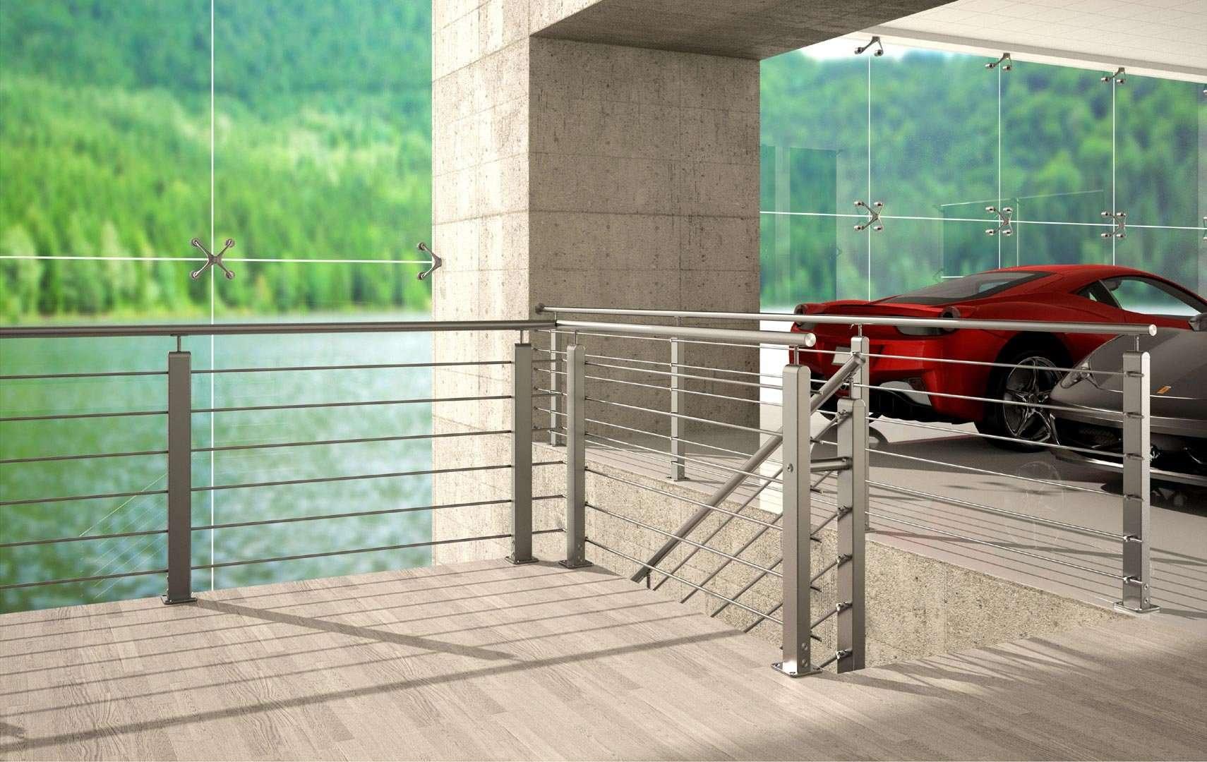 Mobili lavelli ringhiere per scale interne di design - Ringhiere in vetro per scale interne prezzi ...