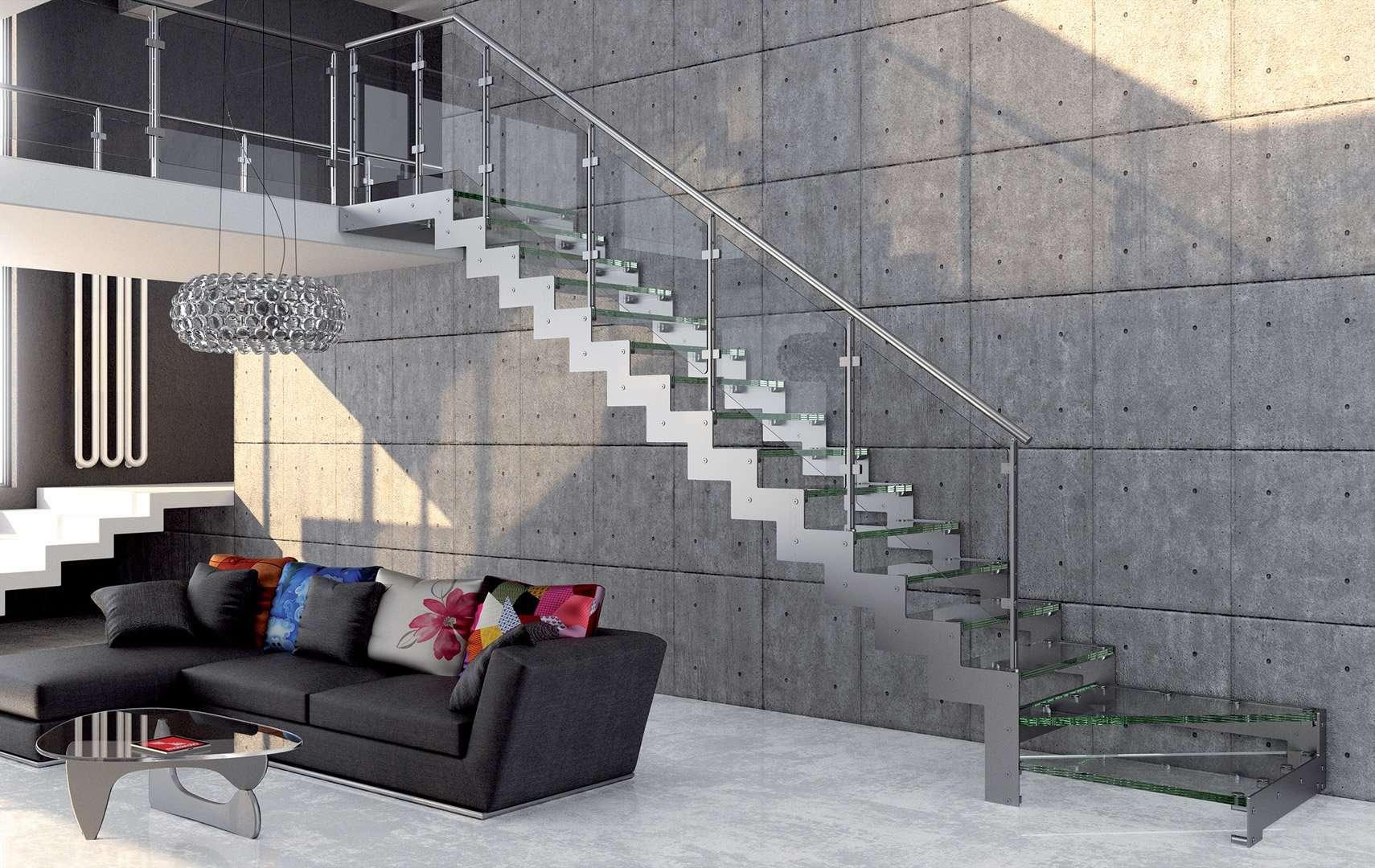 Rexal glass scale interne con ringhiera in vetro un - Scale esterne moderne ...