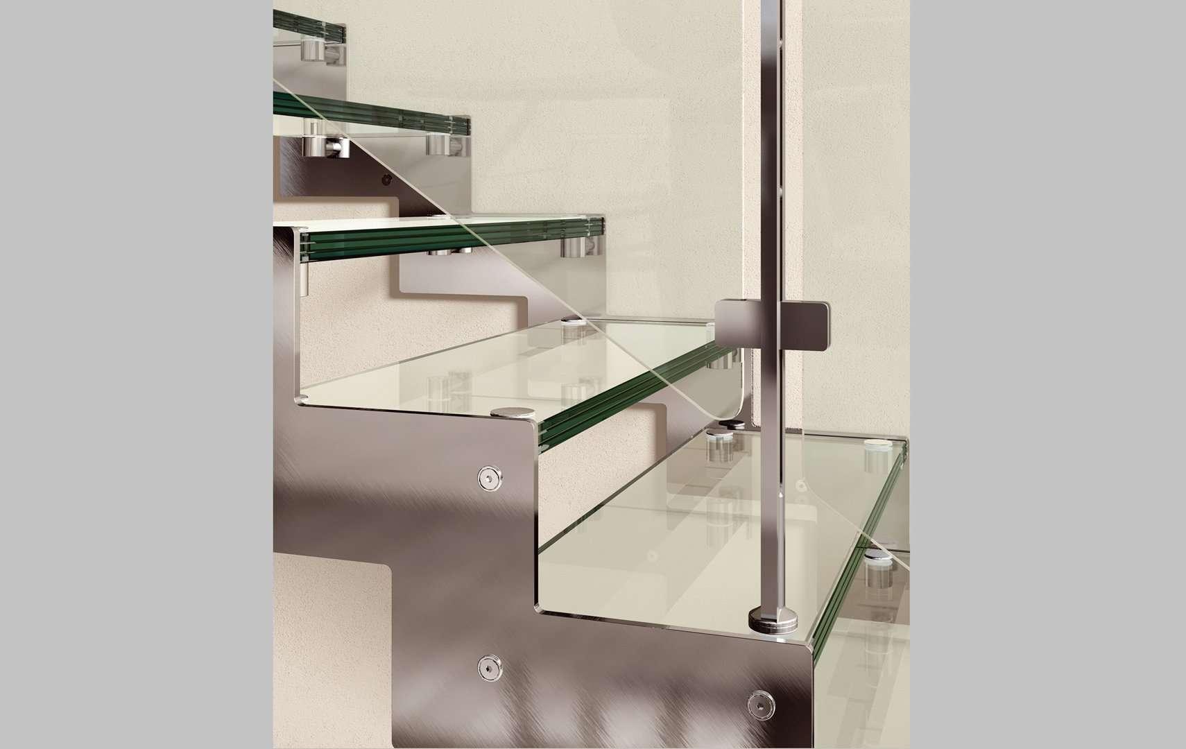 Rexal glass scale interne moderne in legno scegli i - Scale mobirolo ...