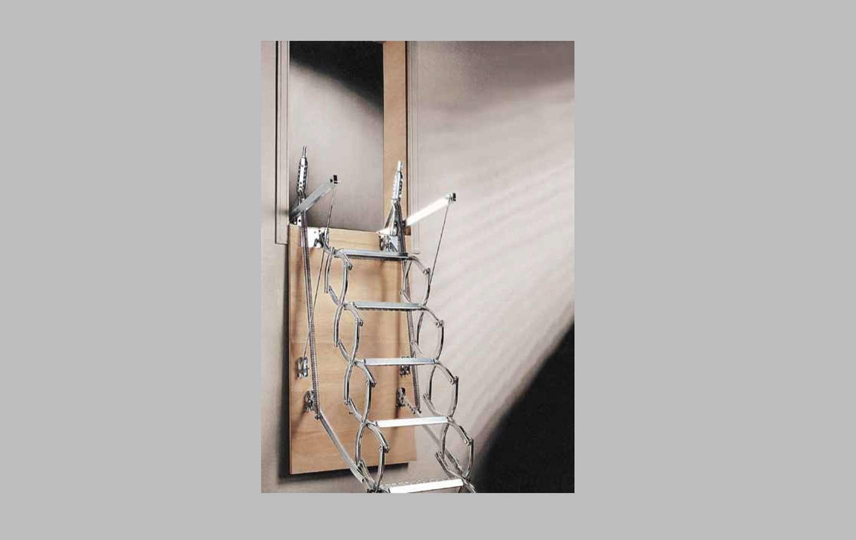 Zx scala retrattile in legno e a scomparsa su misura - Scale a parete ...