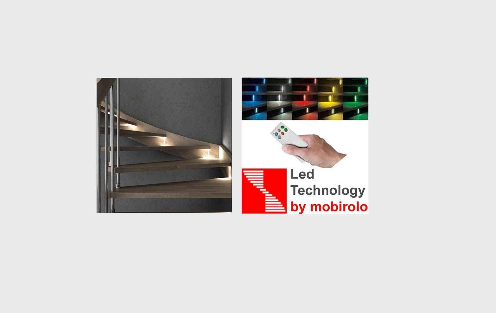 Fly chrome led scale interne con luci a led con - Led per scale ...