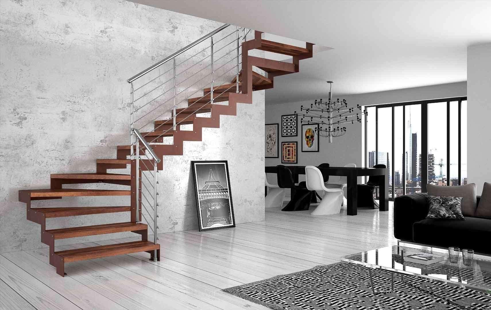 Akura scale interne moderne in legno scegli i modelli for Scale interne