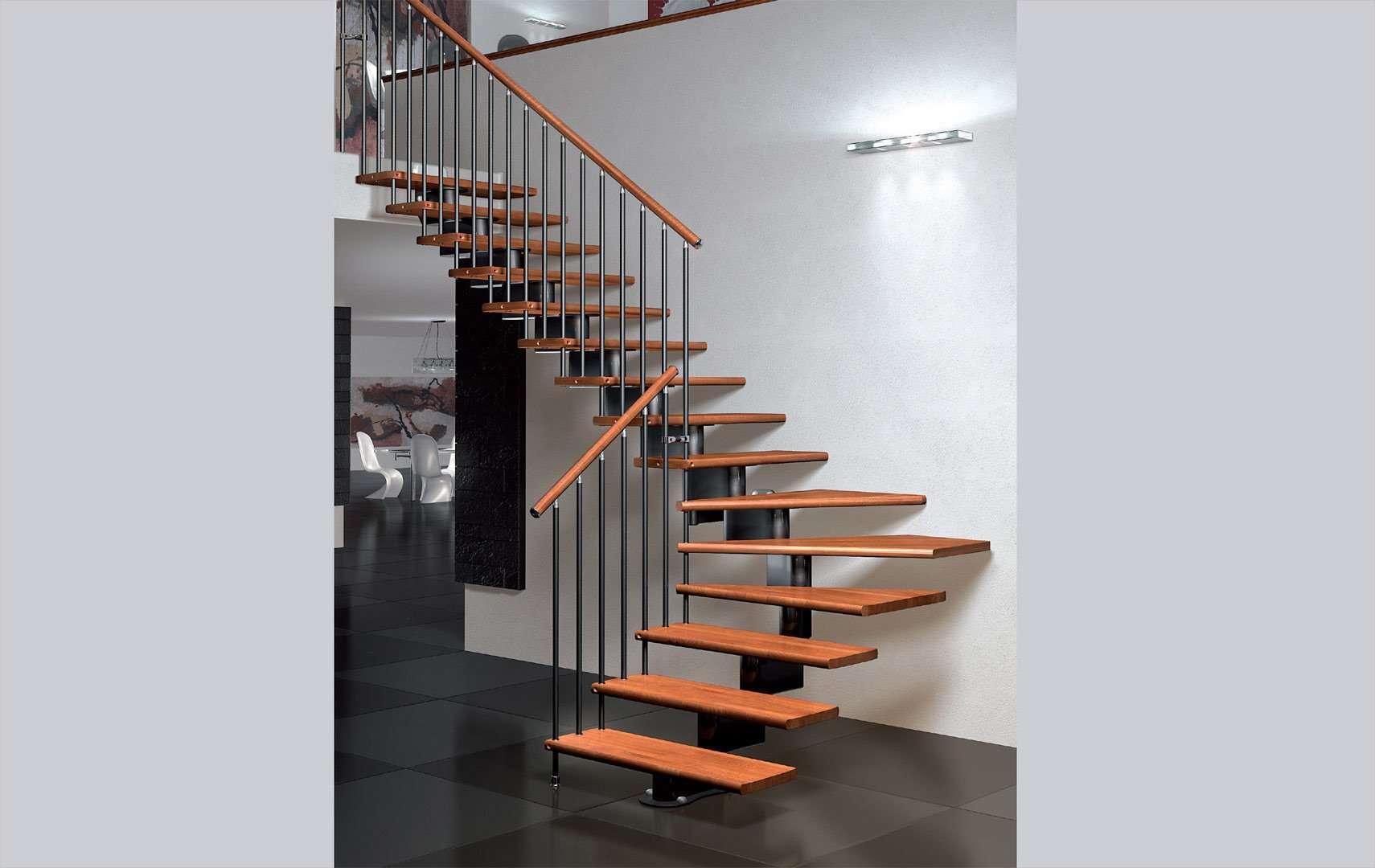 nika scale per interni scale in legno per gli interni. Black Bedroom Furniture Sets. Home Design Ideas