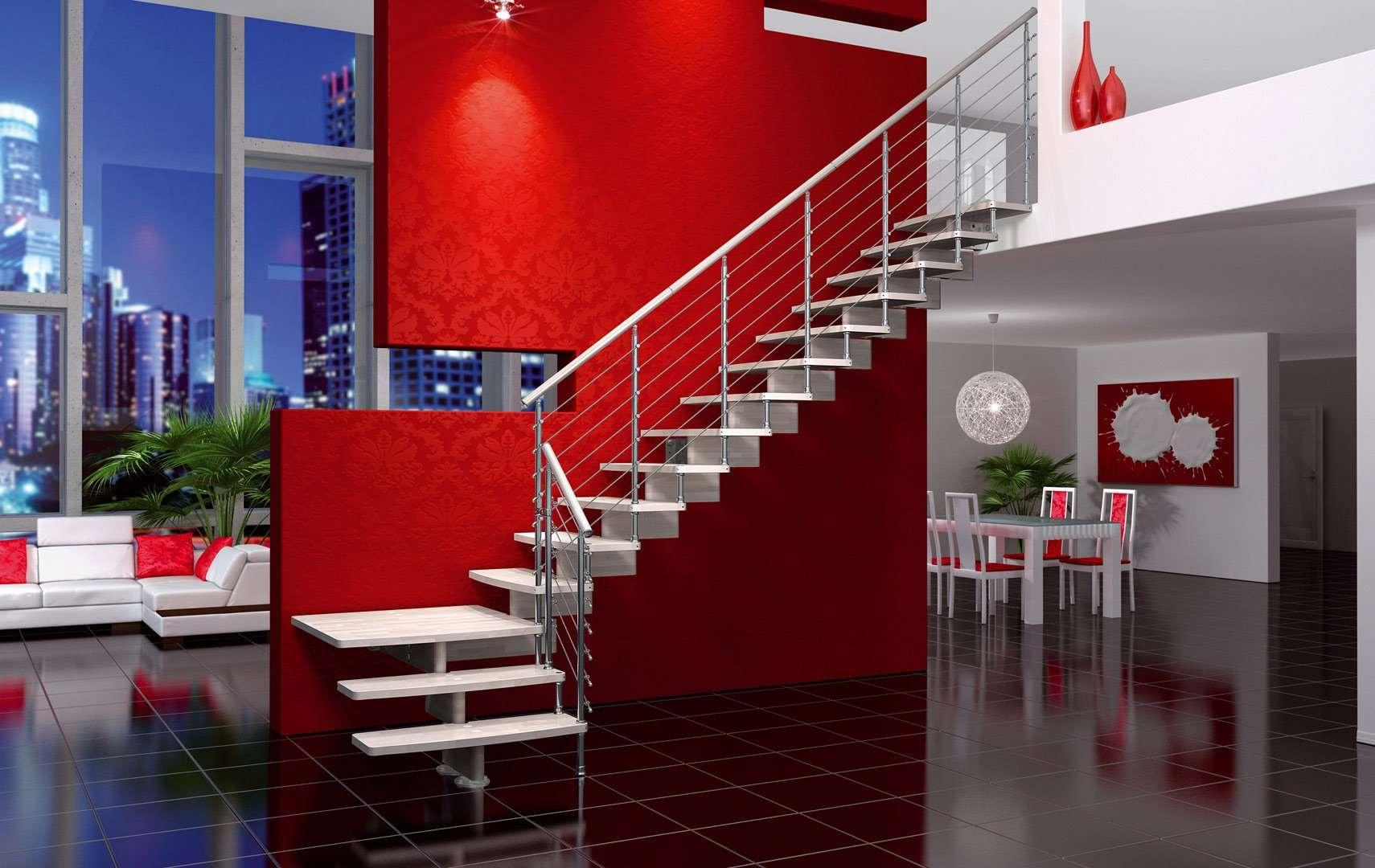 Escaleras italianas escaleras de madera maciza - Escaleras de interior modernas ...