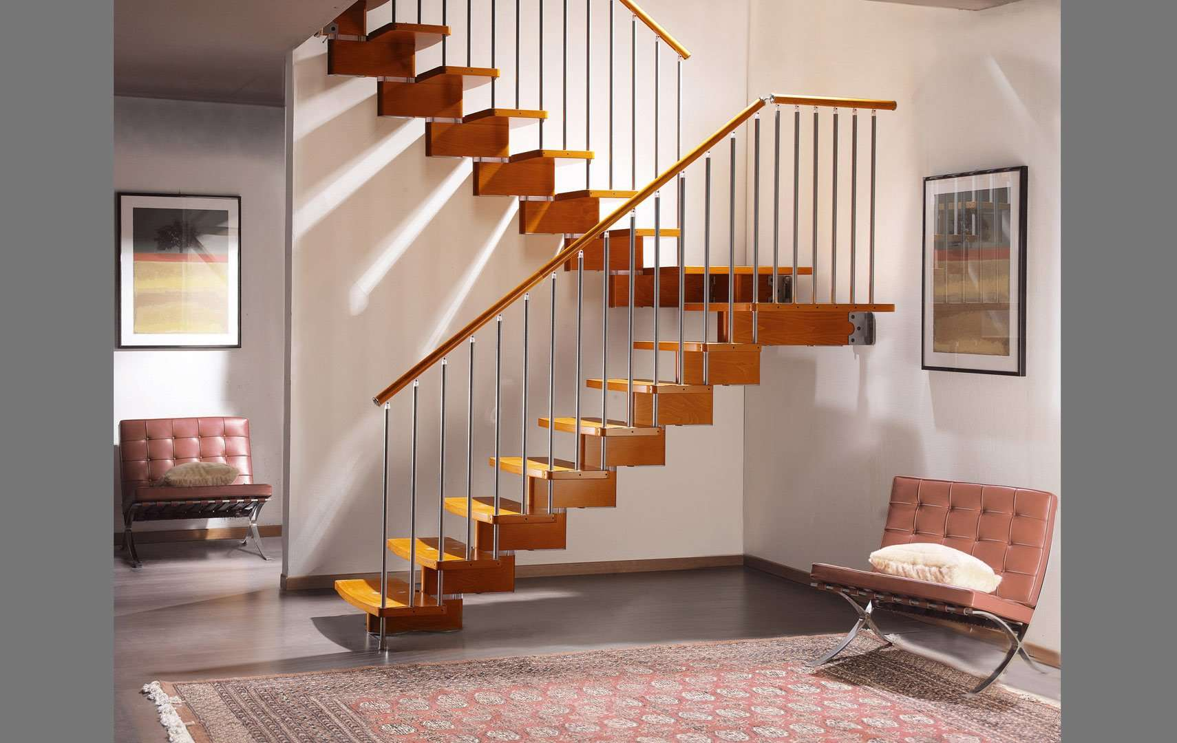 nuvola escaleras italianas escaleras de madera maciza escaleras de design escaleras para interiores escaleras de modulares escaleras