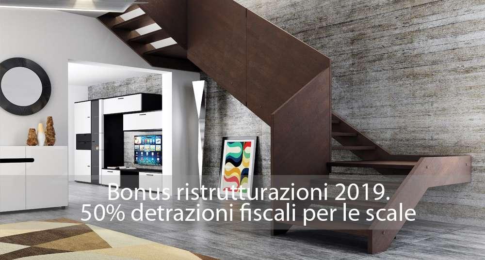 Bonus ristrutturazioni 2019: 50% detrazioni fiscali per le scale