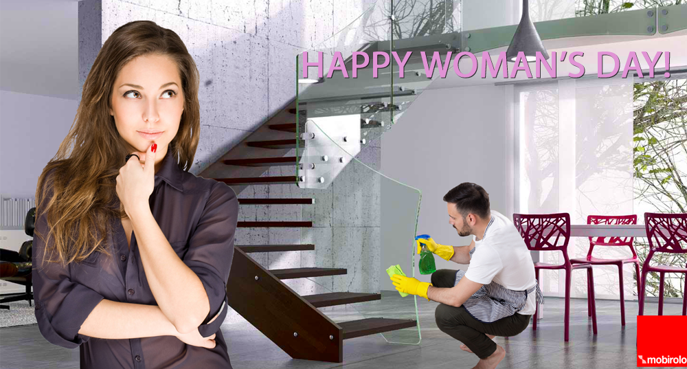8th March, International Women's Day: men who clean house like ideal gift