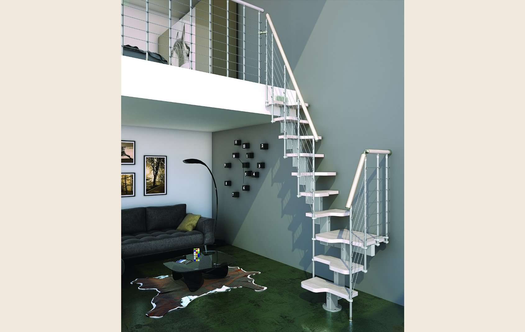 Escaleras italianas escaleras de madera maciza for Escaleras modernas para espacios pequenos