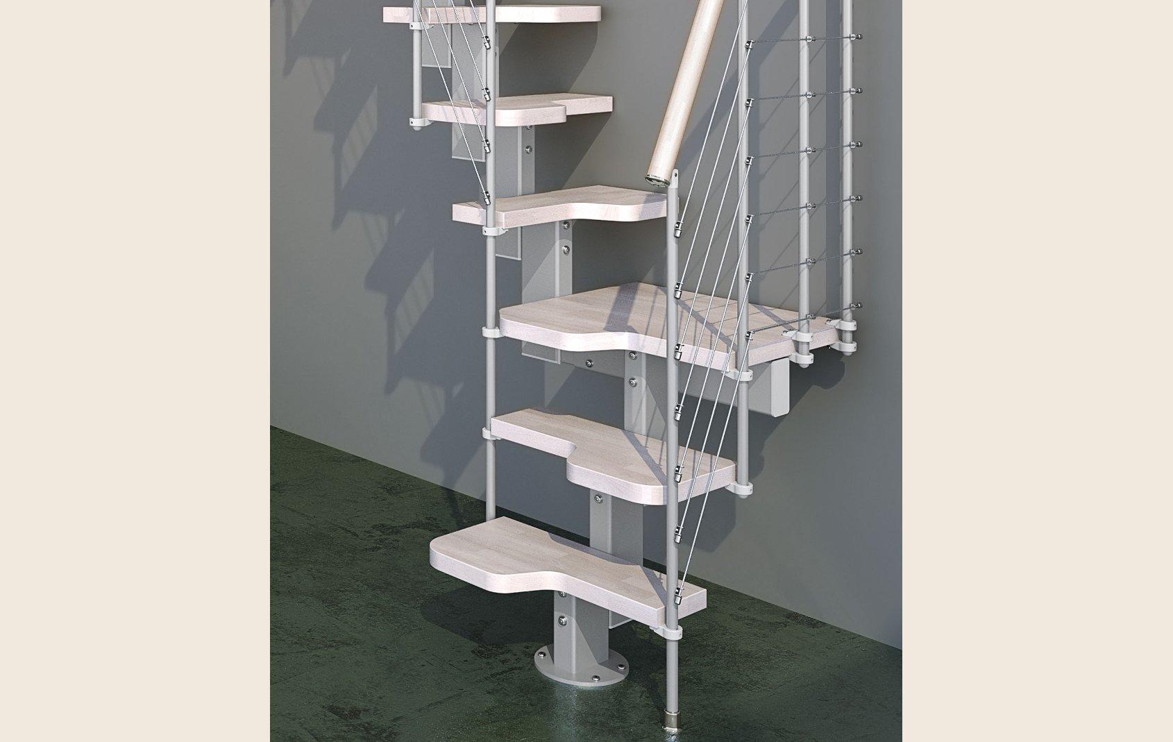 Dixi scale per soppalchi in legno salvaspazio a for Idee scale per soppalchi