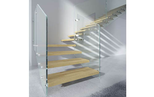 Parapetti In Vetro Per Interni ᐅ scale interne in vetro con ringhiera in vetro, parapetto