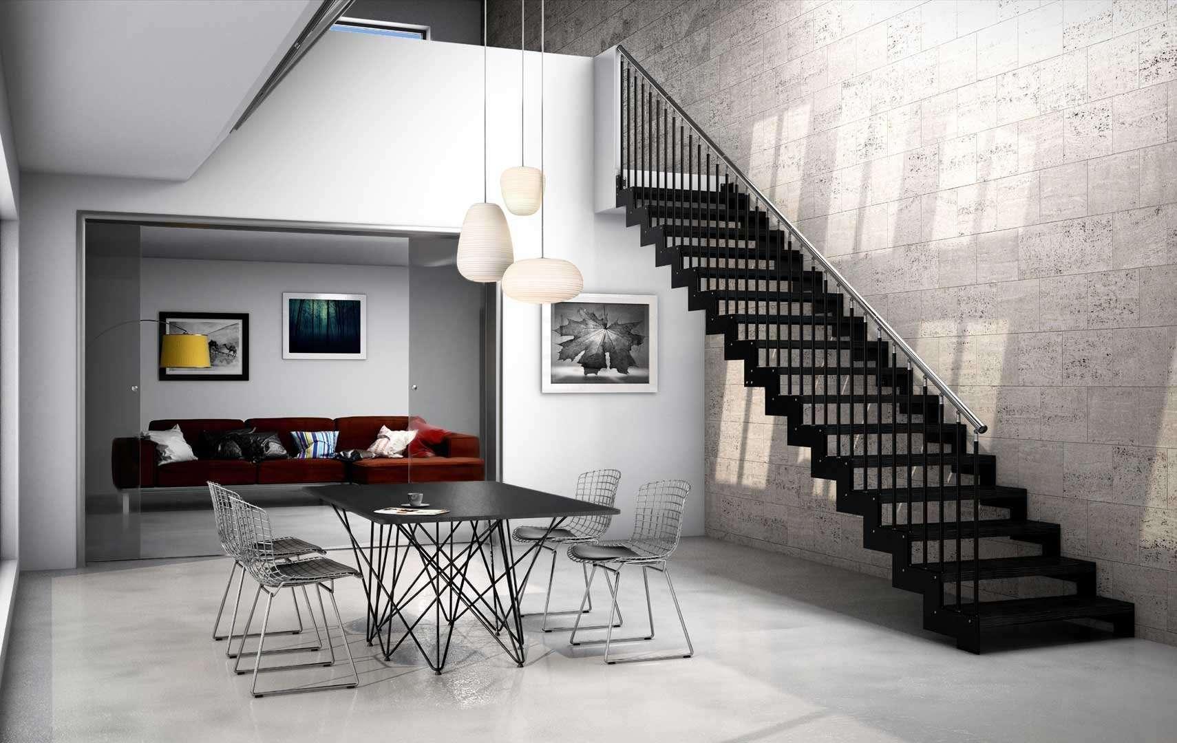 Rexal scale interne moderne in legno scegli i modelli - Scale rivestite in legno per interni ...