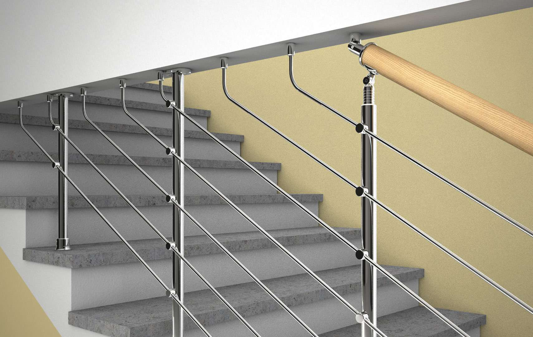 Parapetti Per Scale Interne ᐅ chrome - chrome | ringhiere per scale interne: ringhiere