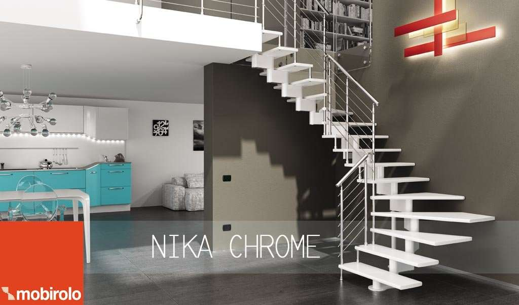 Scale Di Design Per Interni.ᐅ Open Staircase Design Nika Chrome Open Staircase