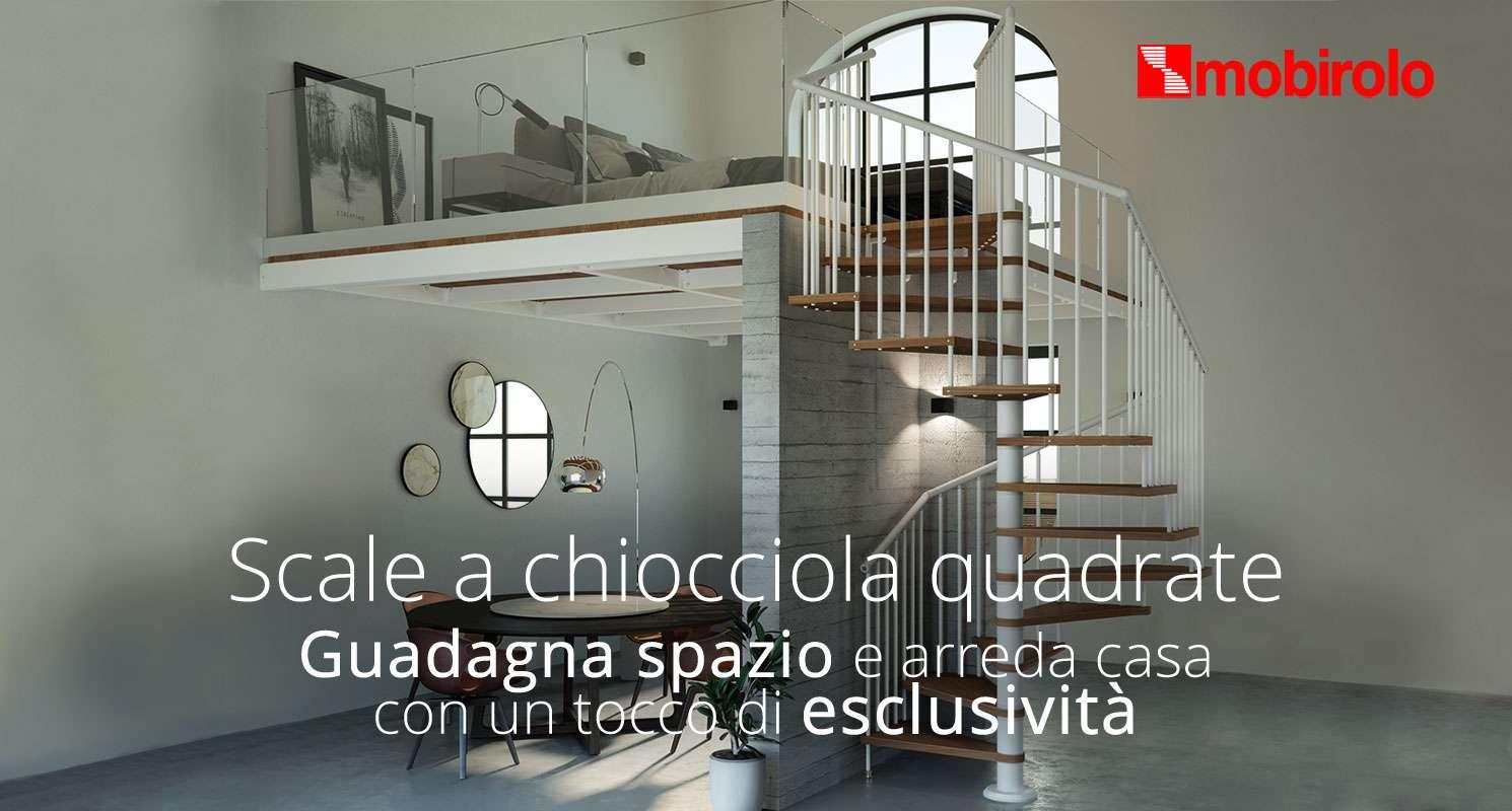 guadagna spazio con le scale a chiocciola quadrate