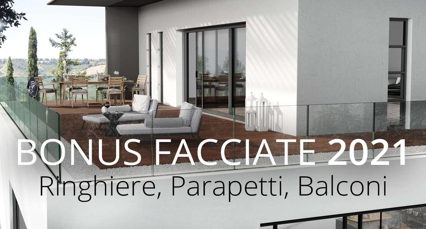 Bonus Facciate 2021: balconi, ringhiere, parapetti