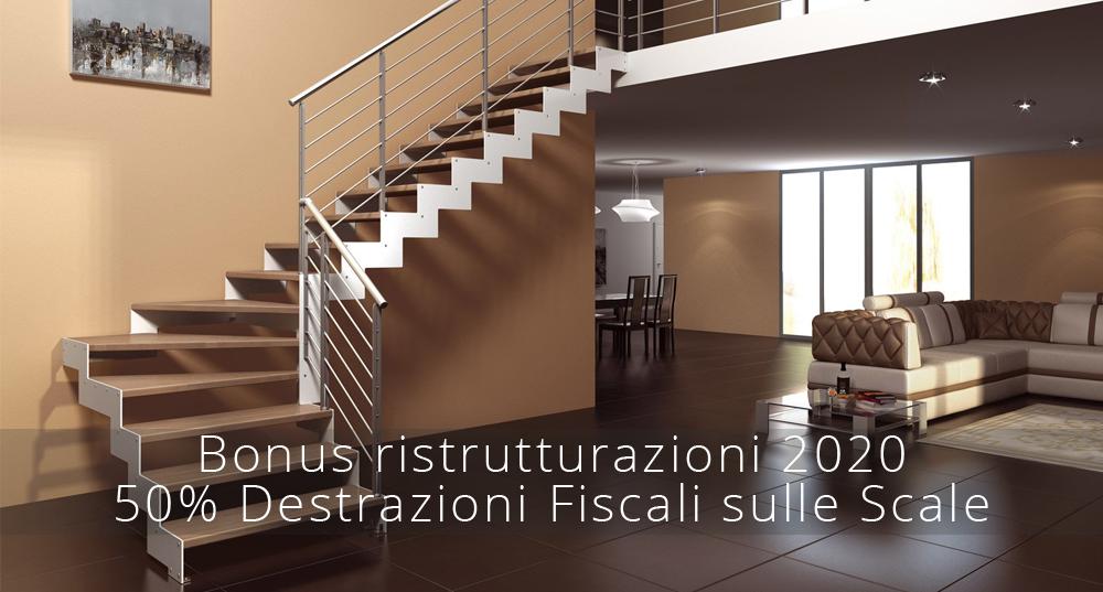 Bonus ristrutturazioni 2020: 50% detrazioni fiscali per le scale