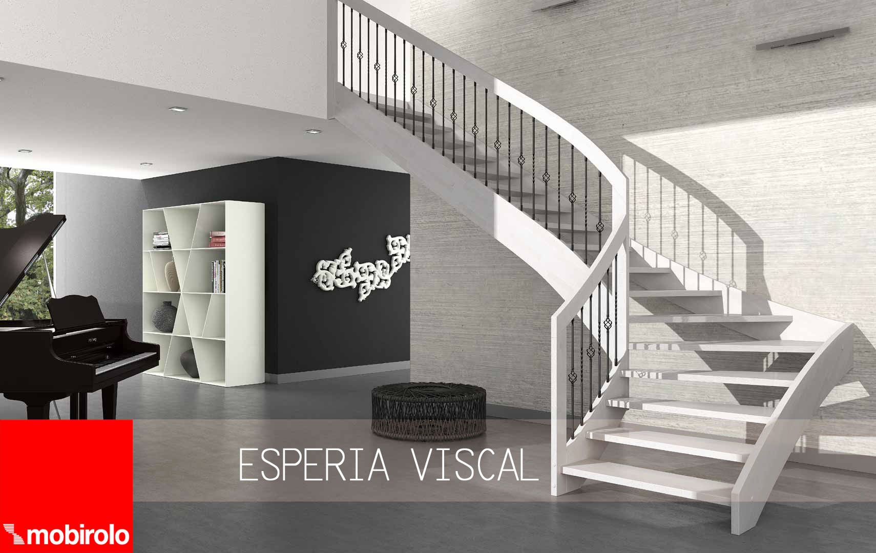 Esperia viscal la giusta scala interna per un arredamento for Arredamento scandinavo on line