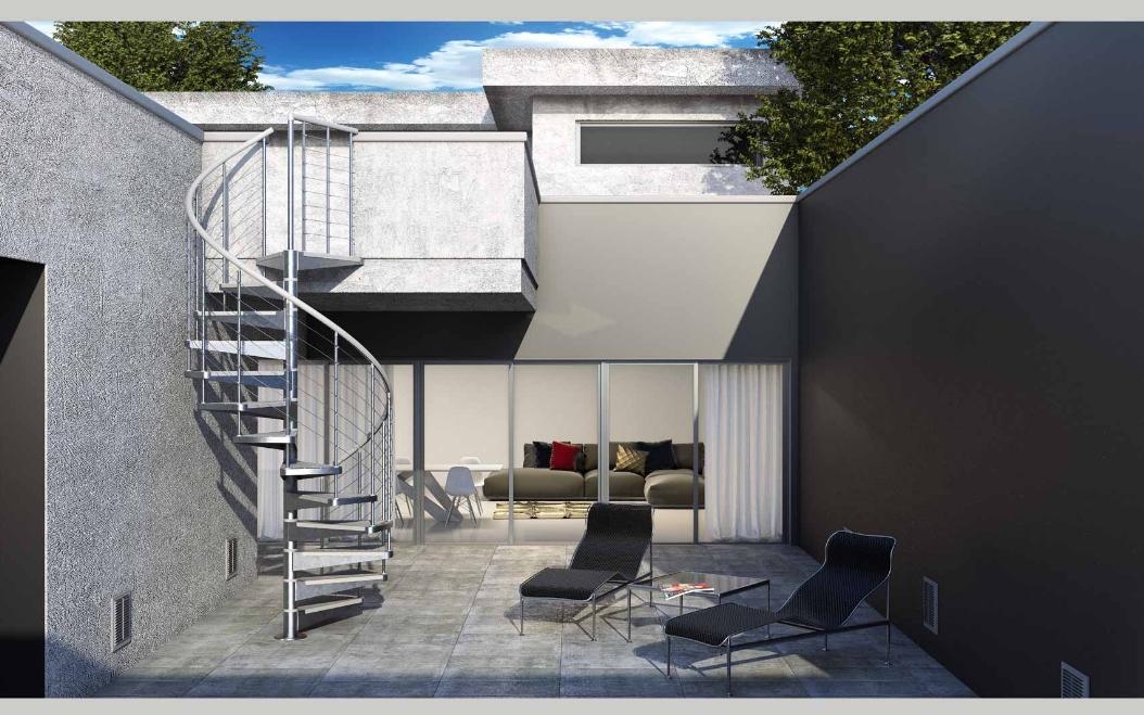 Scale esterne moderne for Como hacer escaleras de caracol de concreto