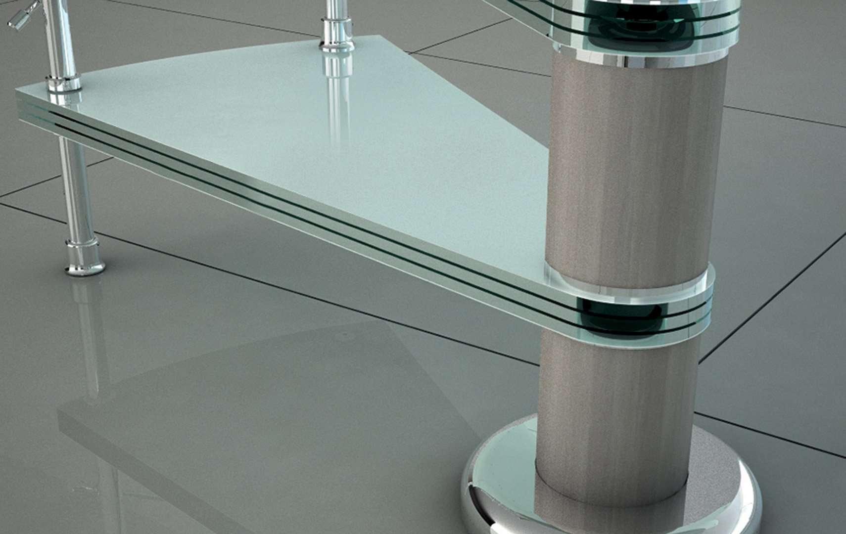 Diable Glass, Scale a chiocciola e scale elicoidali