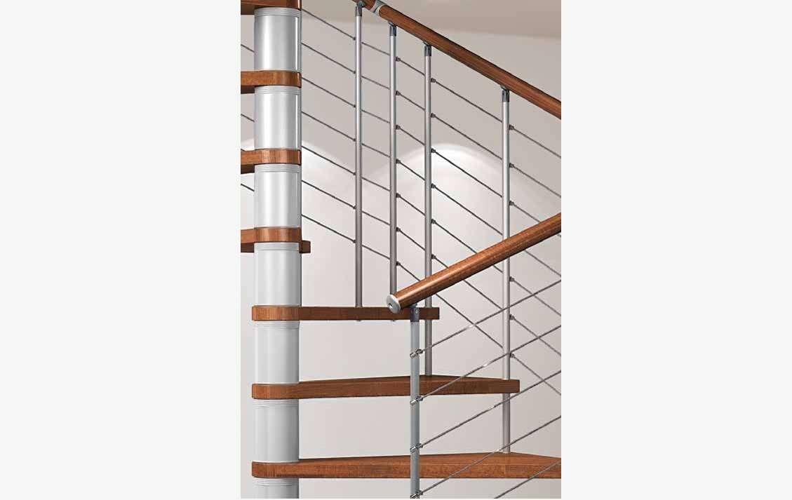Silver Escaleras Italianas Escaleras De Madera Maciza - Escaleras-de-madera-para-exteriores