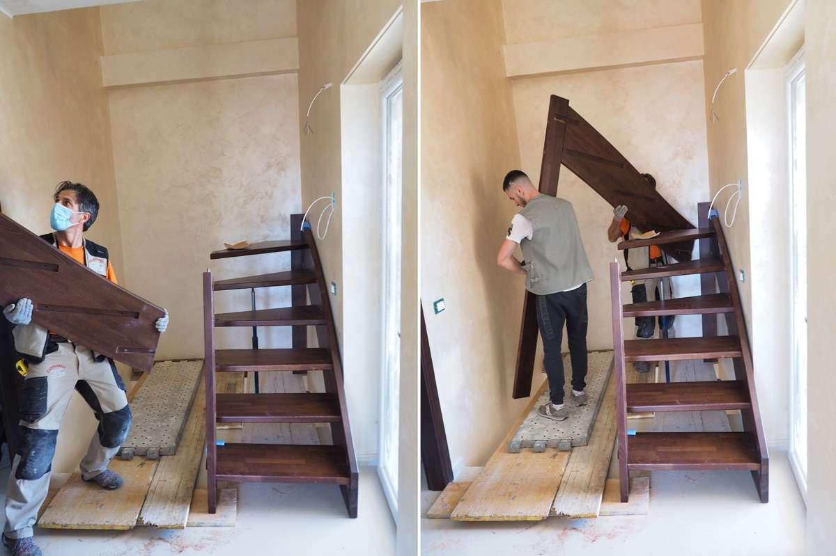Il montaggio di una scala mobirolo
