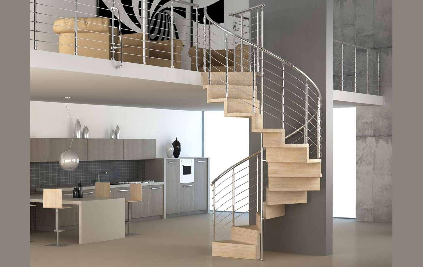 Pura ampia scelta di scale a chiocciola e scale elicoidali in legno per interni con - Scale a chiocciola interne ...
