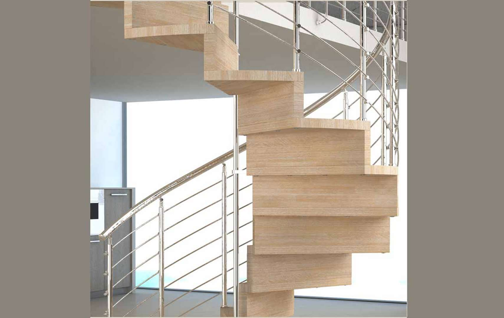 Escaleras exteriores de madera trendy carril para - Barandillas de madera para exterior ...