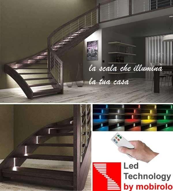 led technology l escalier qui claire ta maison. Black Bedroom Furniture Sets. Home Design Ideas