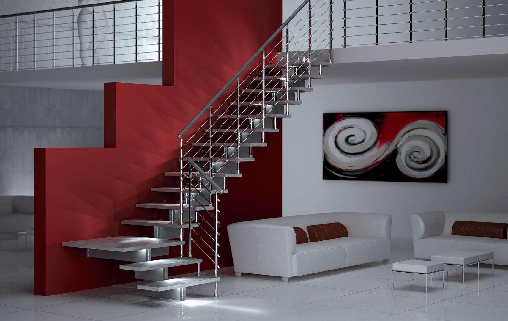 ᐅ visiona le immagini di scale interne luci a led scale interne