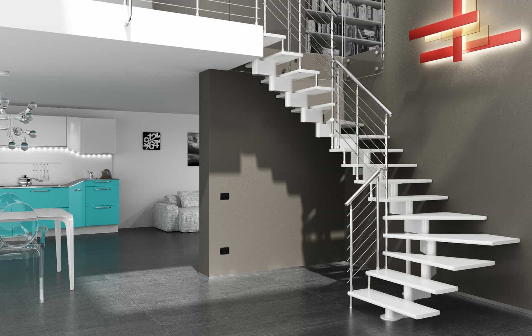 Open staircase design, staircase design