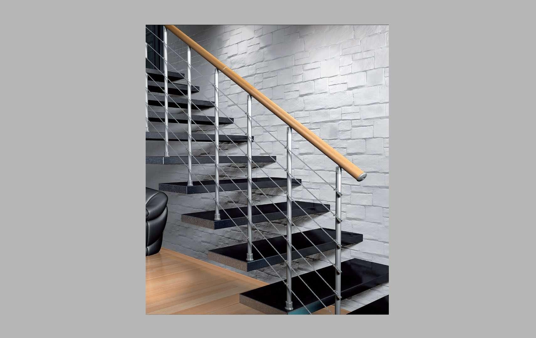 Barandillas escaleras interiores amazing hierro forjado - Barandillas escaleras modernas ...