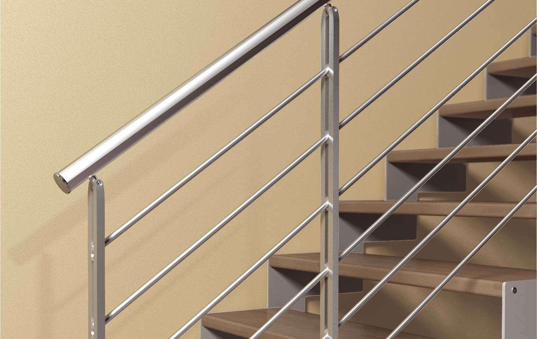 main courante design beautiful main courante escalier encastre clairante et autres ides design. Black Bedroom Furniture Sets. Home Design Ideas