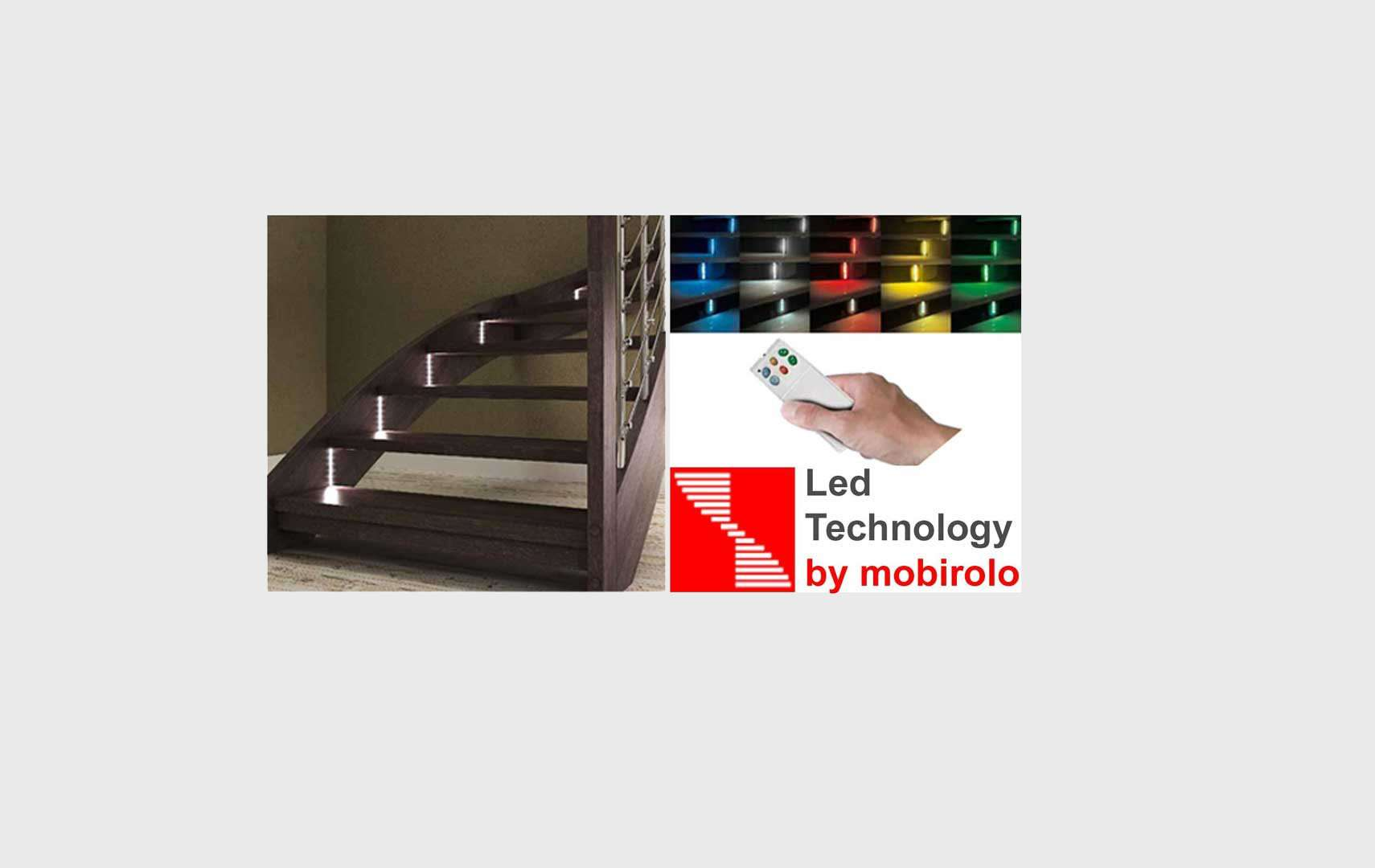 Esperia chrome LED, Scale interne luci a led