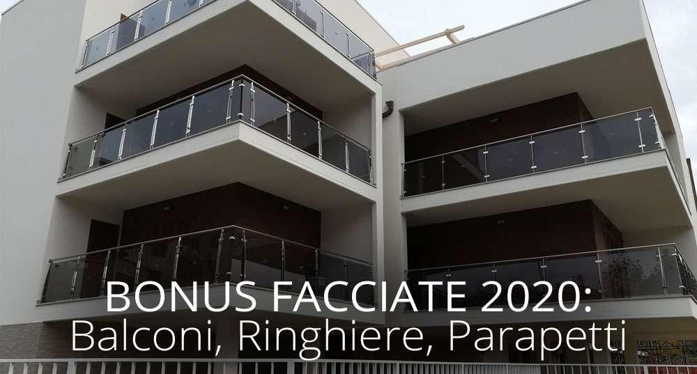 Bonus Facciate 2020: balconi, ringhiere, parapetti