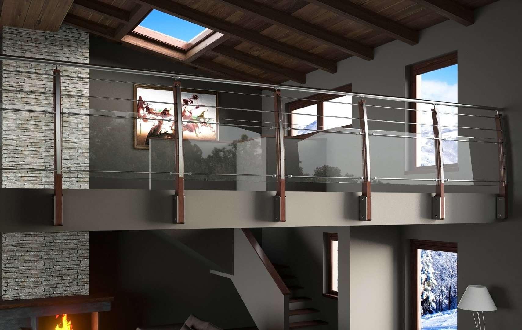 Arc 100 ringhiere per scale interne le puoi trovare in legno e in vetro - Ringhiere per interni ...