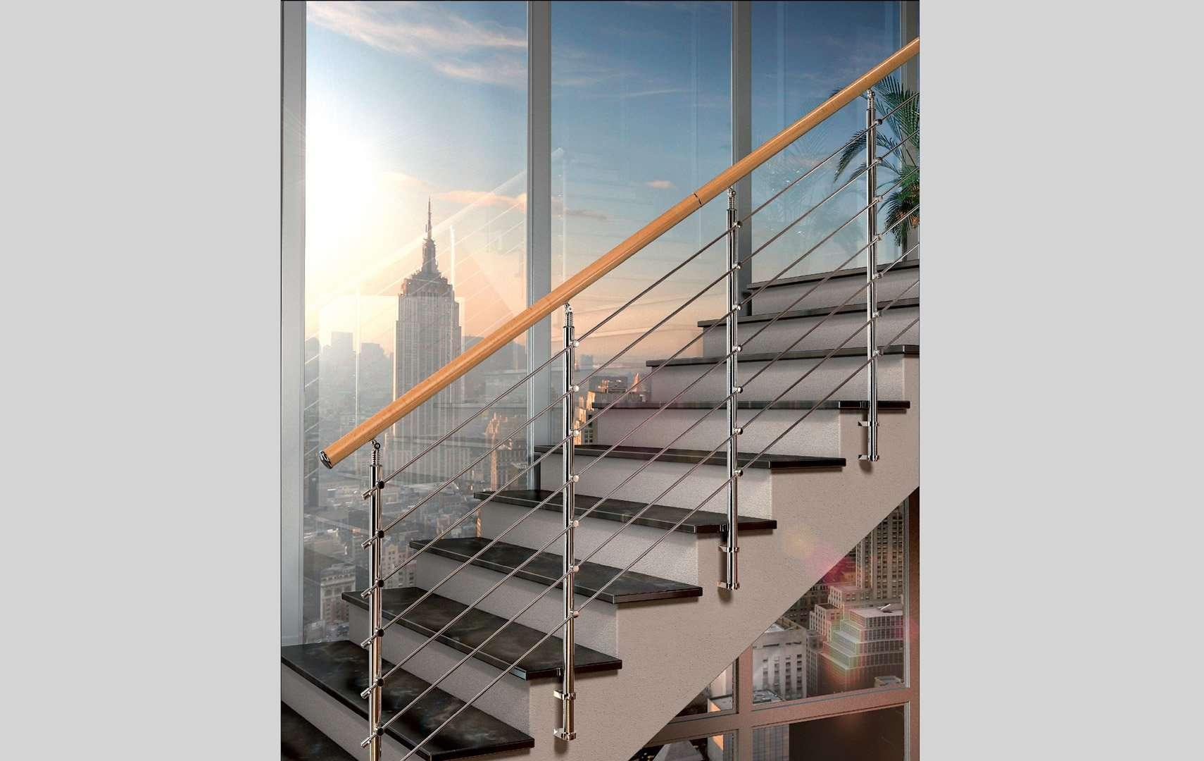 Chrome ringhiere per scale interne le puoi trovare in legno e in vetro - Ringhiere scale interne in legno ...