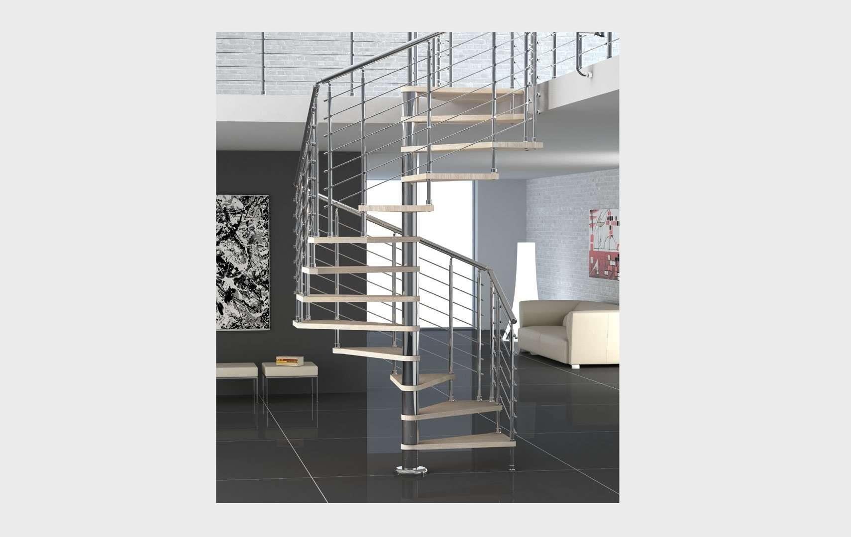 Diable ampia scelta di scale a chiocciola e scale elicoidali in legno per interni con - Scale a chiocciola bari ...