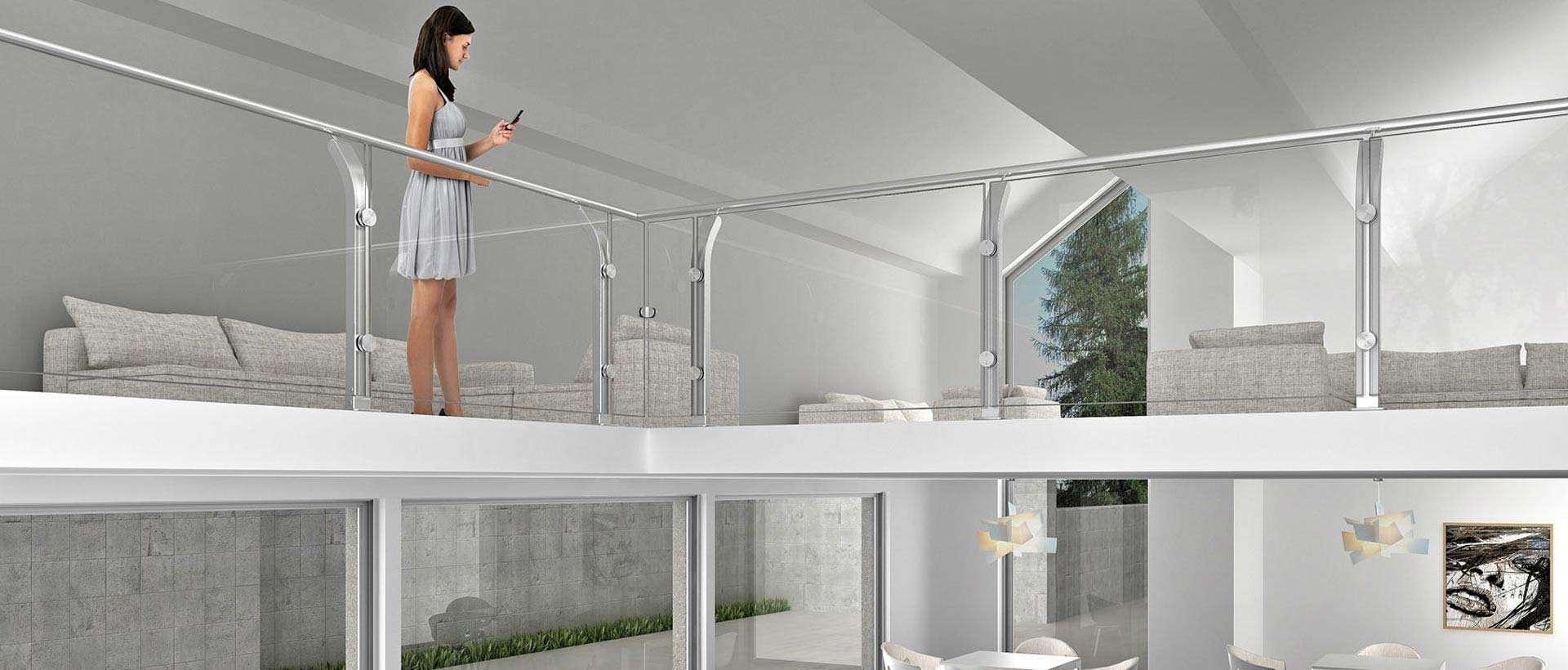 Scale mobirolo scale a chiocciola scale interne scale - Corrimano in vetro per scale ...