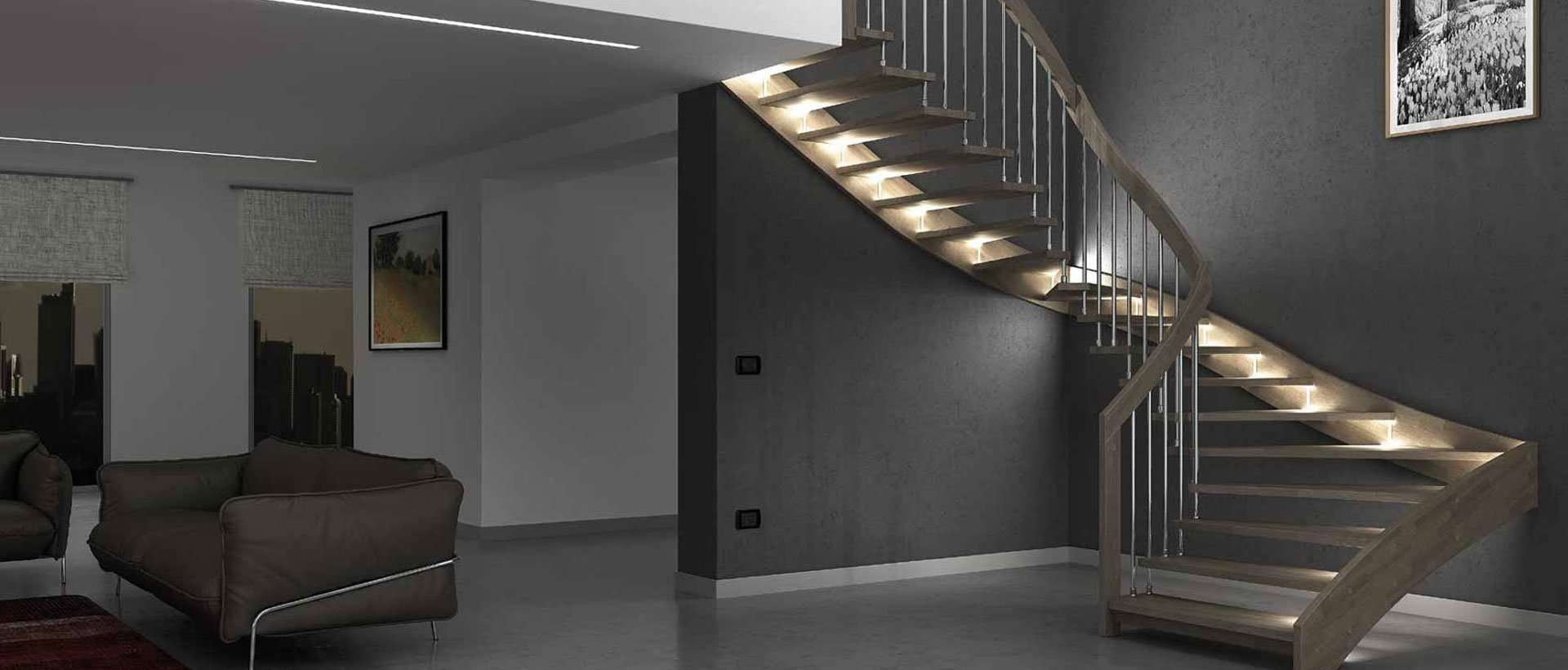 escalier interieur design perfect eclairage escalier intrieur led aux deux extrmits pour. Black Bedroom Furniture Sets. Home Design Ideas