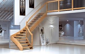 Mobirolo escaleras de madera maciza escaleras de design for Escaleras retractiles