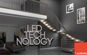 Illuminazione scale interne. Il design da sogno delle scale illuminate a led