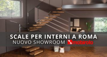 Nuovo ShowRoom di scale interne Mobirolo a Roma