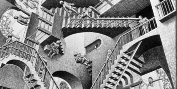 A tribute to Escher, and to his his magnificent staircases
