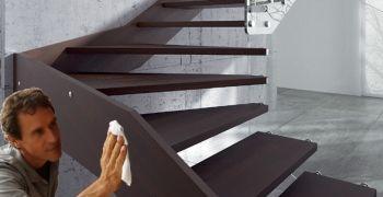 Pulizia e manutenzione delle scale in legno