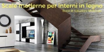 Scale moderne per interni in legno. Ecco le soluzioni Mobirolo