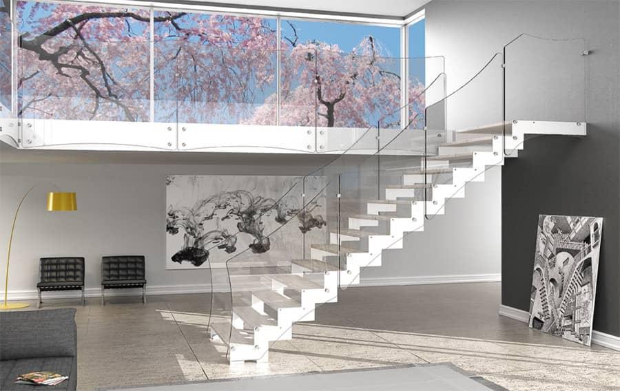 scale per interni legno